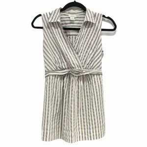 Motherhood Maternity Striped V Neck Collar Top S